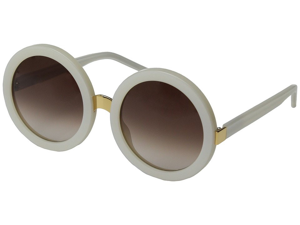 Wildfox - Malibu (Pearl White/Brown Gradient) Fashion Sunglasses