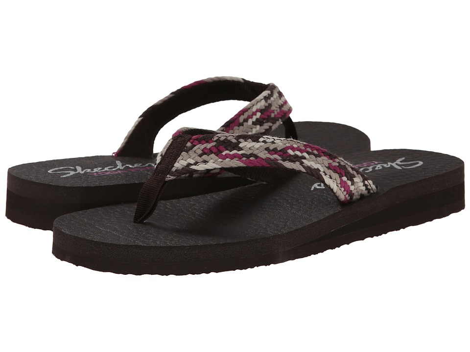 SKECHERS - Meditation - Interweave (Charcoal Multi) Women's Sandals