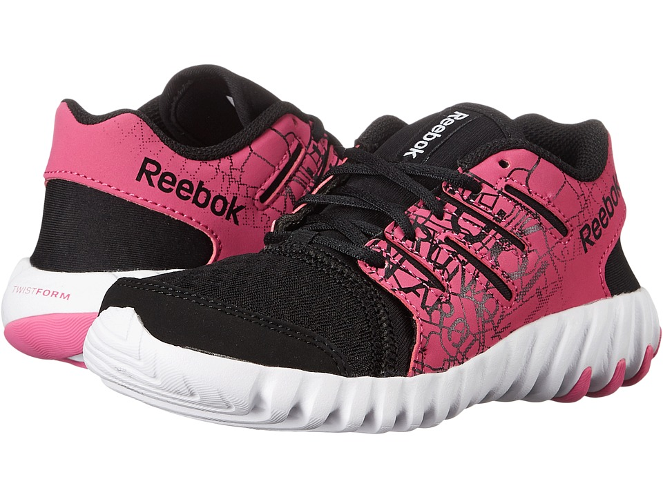 Reebok Kids - Twistform (Little Kid) (City/Black/Charged Pink/White) Girls Shoes