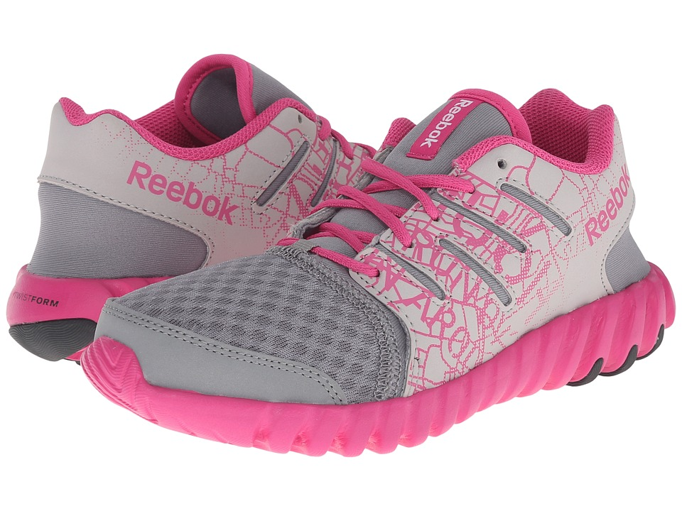 Reebok Kids - Twistform (Little Kid) (City/Flat Grey/Steel/Charged Pink/Gravel) Girls Shoes