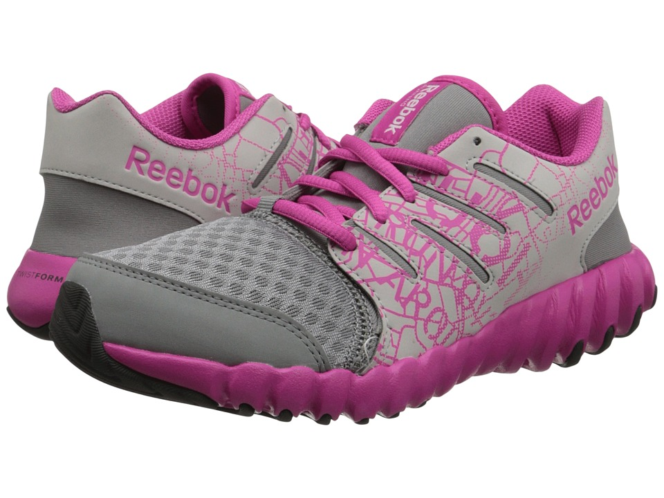 Reebok Kids - Twistform (Big Kid) (City/Flat Grey/Steel/Charged Pink/Gravel) Girls Shoes