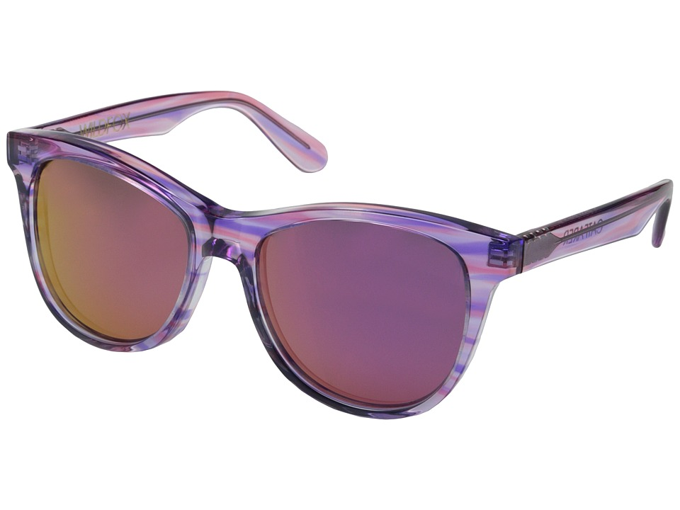Wildfox - Catfarer Deluxe (Breeze/Purple Mirror) Fashion Sunglasses