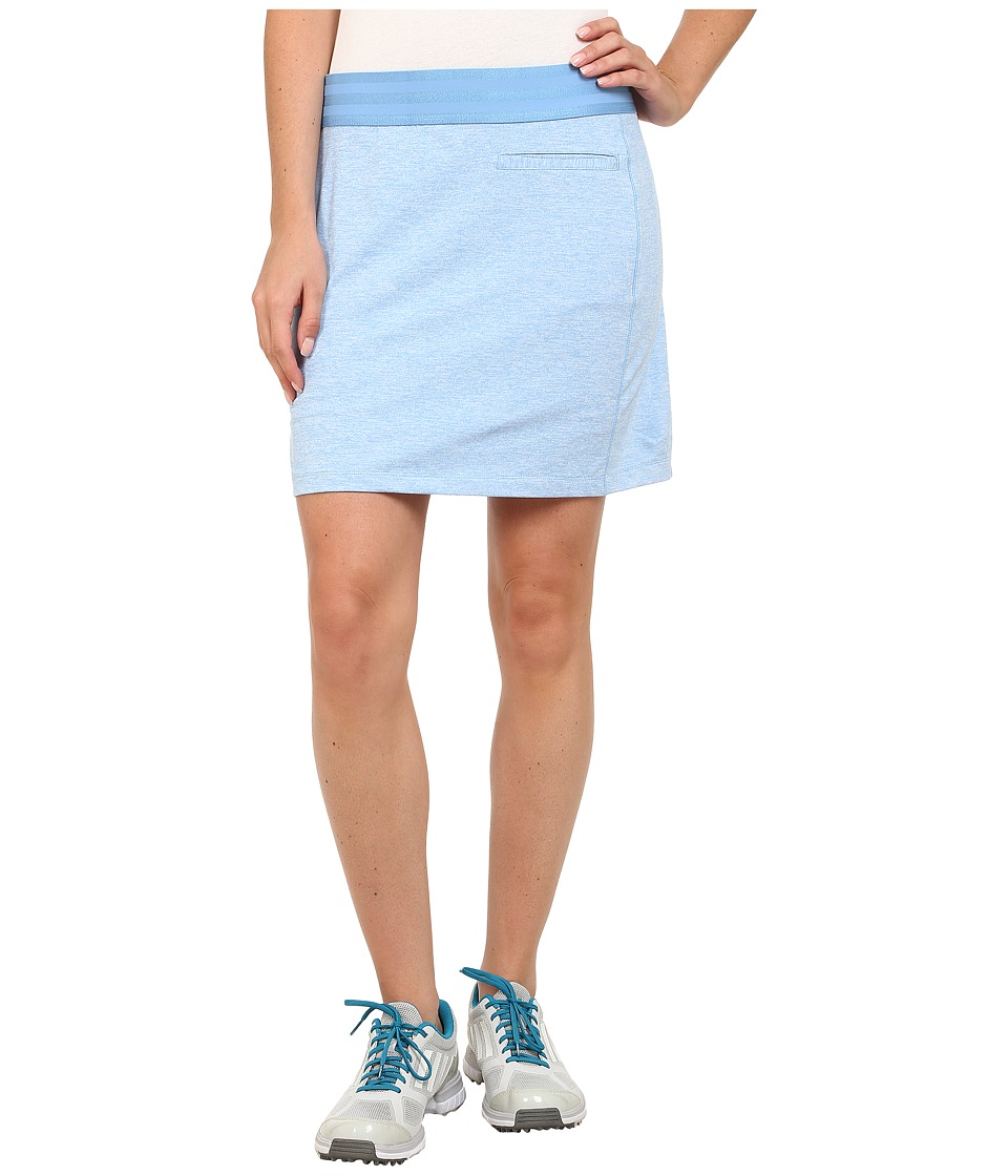 adidas Golf - Essentials Rangewear Skort '15 (Bahia Light Blue Heather) Women's Skort