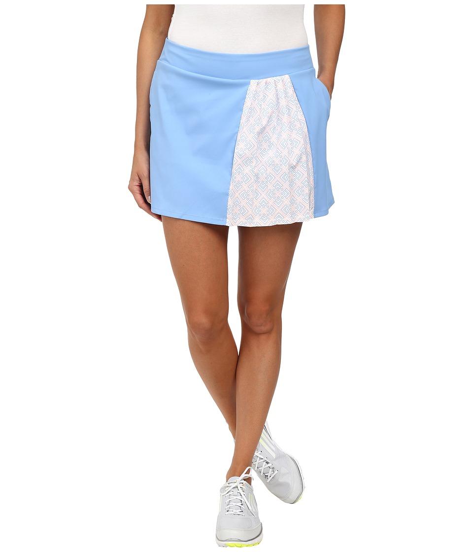 adidas Golf - Tour Accordian Skort (Bahia Light Blue) Women