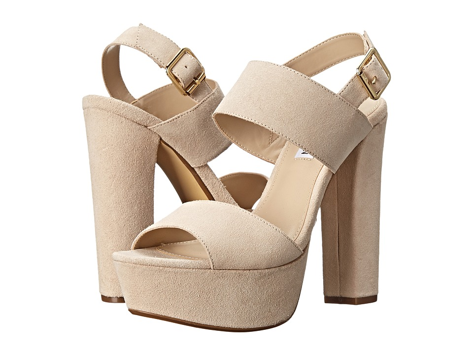 Steve Madden - Lenore (Natural Suede) Women's Toe Open Shoes