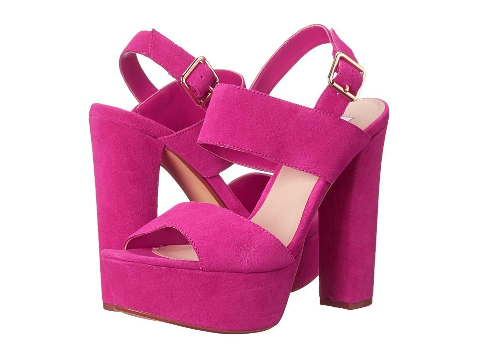 Steve Madden - Lenore (Fuchsia Suede) Women's Toe Open Shoes