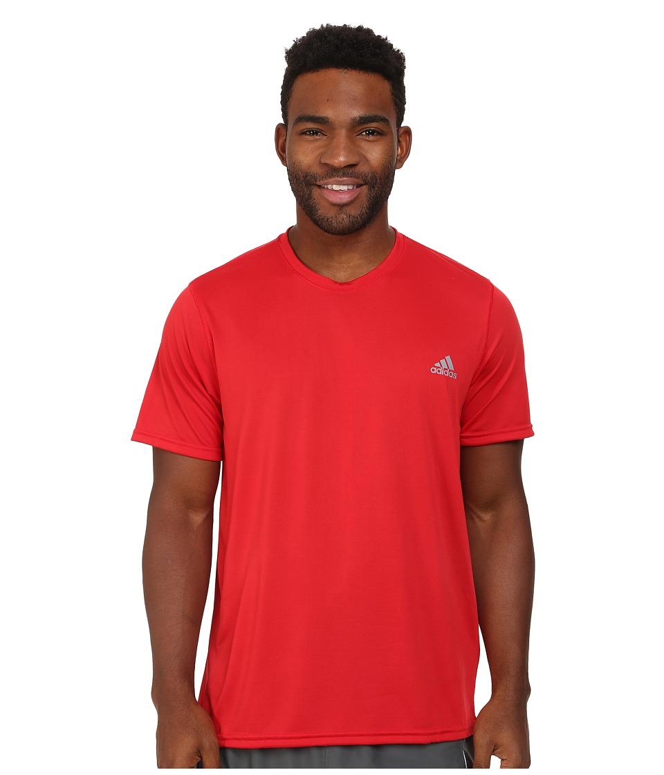 adidas - climalite Short Sleeve Tee (Scarlet) Men's T Shirt
