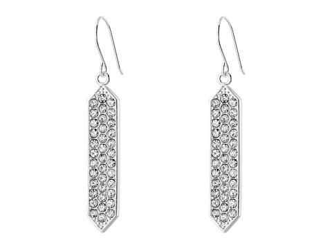 LAUREN by Ralph Lauren - Geo with Crystal Drop (Silver/Crystal) Earring