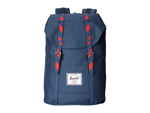 Herschel Supply Co. - Retreat (Navy/Red Stripe) Backpack Bags