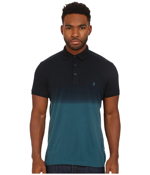French Connection - Wembly Dip Dye Polo (Mermaid/Marine Blue) Men