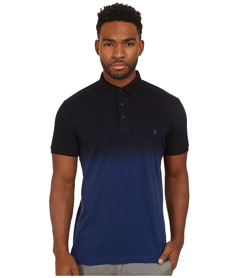 French Connection - Wembly Dip Dye Polo (Blue Depths/Marine Blue) Men