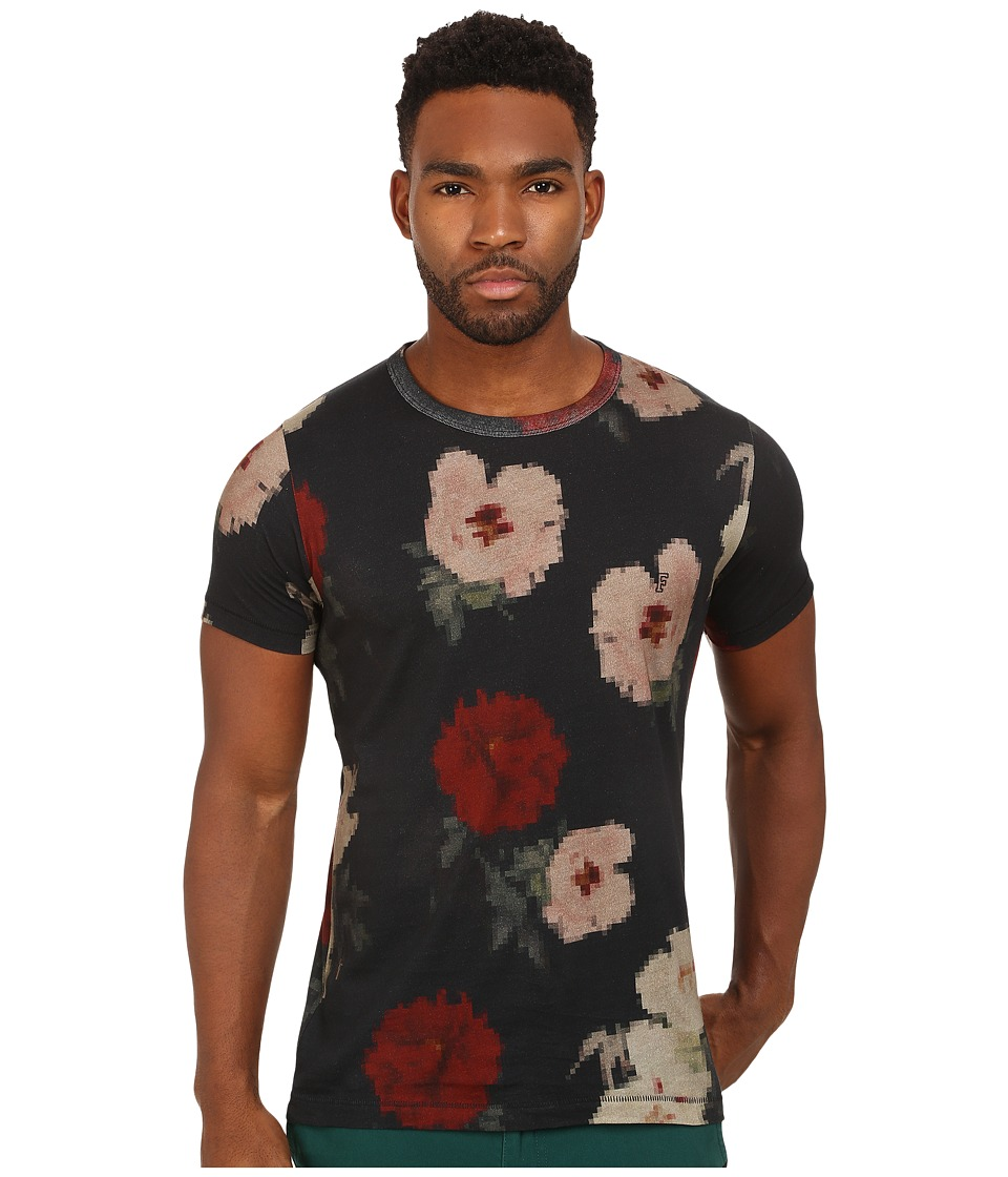 French Connection - Pixel Peonie Jersey (Marine Blue) Men's T Shirt
