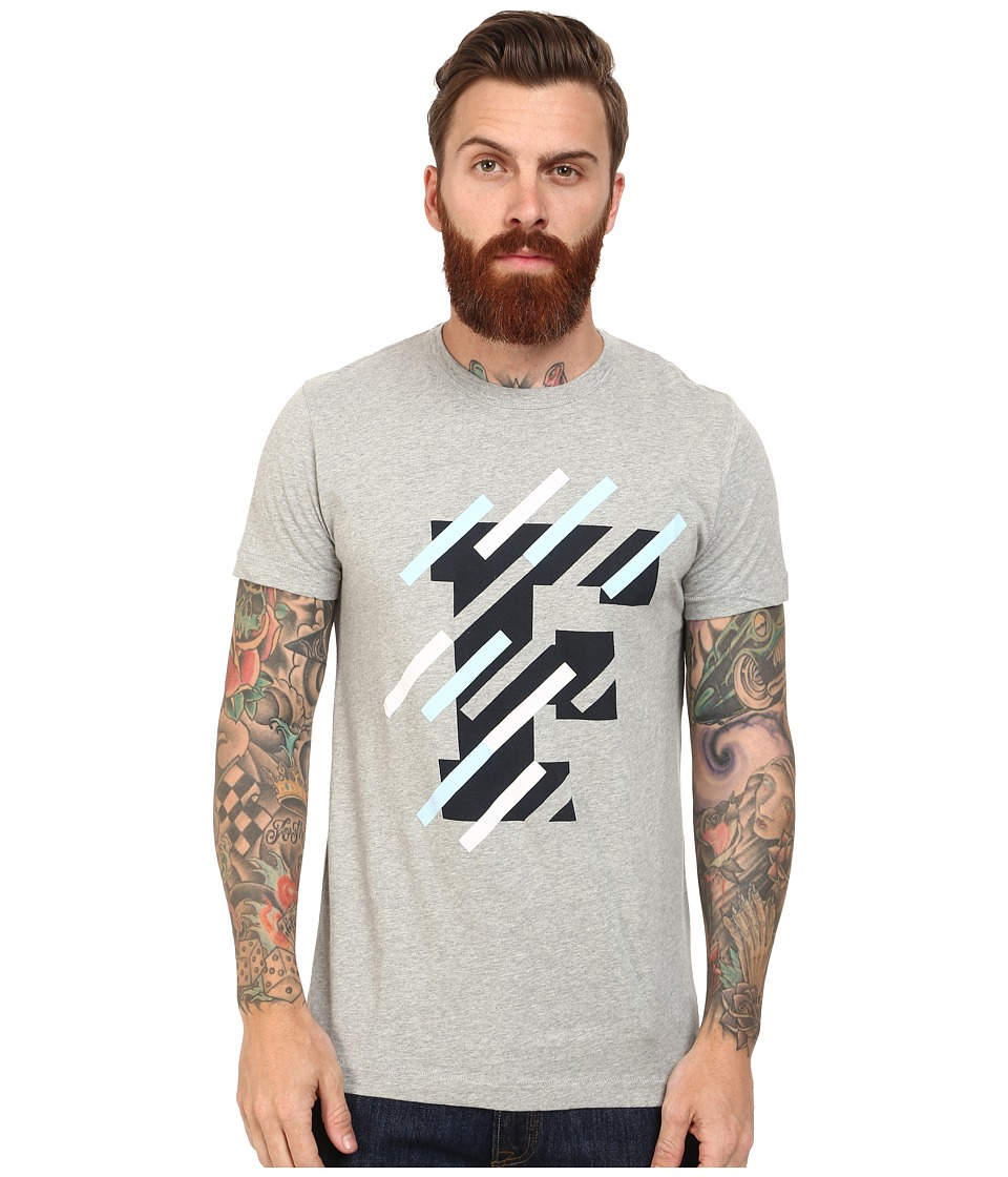 French Connection - F Tape Tee (Grey Melange) Men's T Shirt