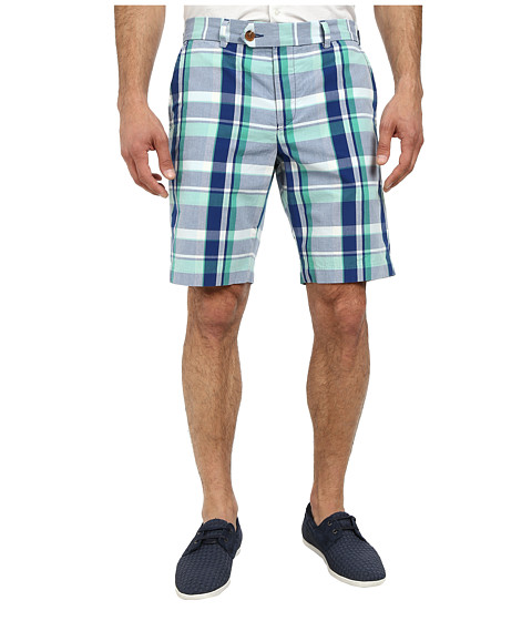 French Connection - Madras Check Shorts (Aqua Sky) Men