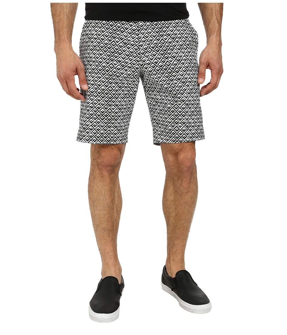 French Connection - Gouache Diamond Shorts (Marine Blue/White) Men