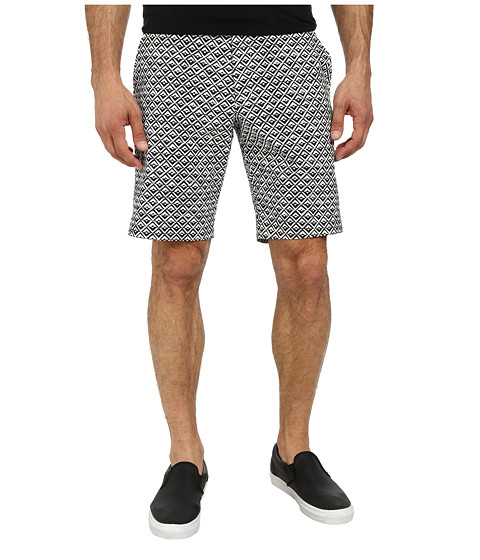 French Connection - Gouache Diamond Shorts (Marine Blue/White) Men's Shorts