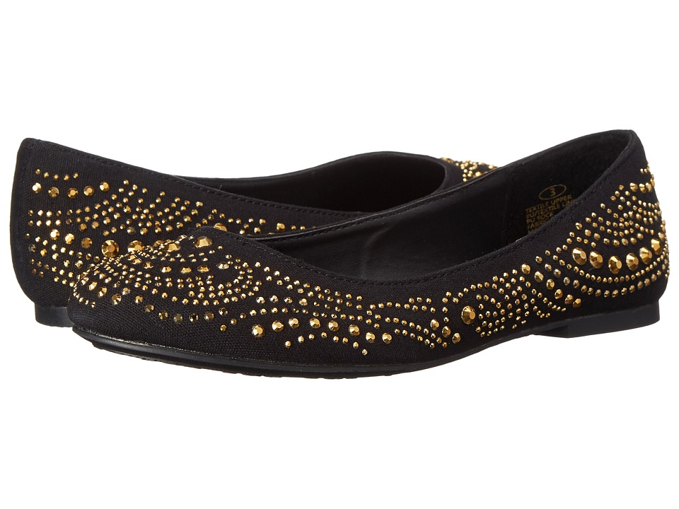 Steve Madden Kids - Jwirly (Little Kid/Big Kid) (Black/Gold) Girl