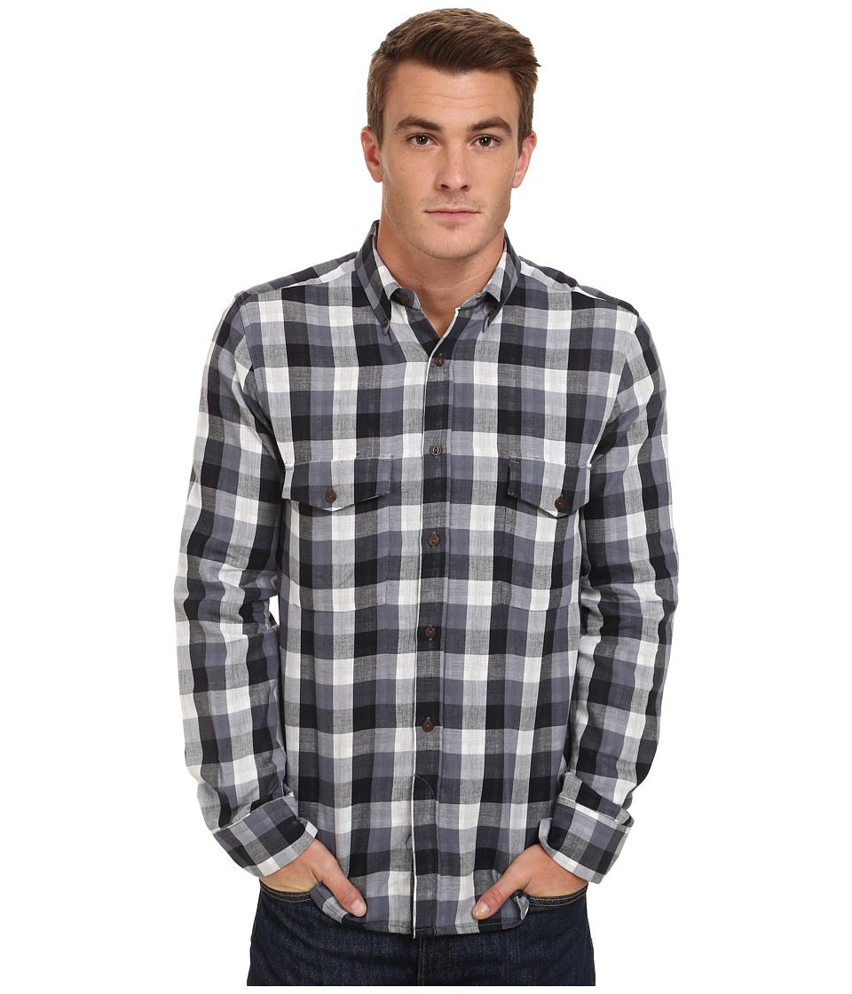 French Connection - Wilton County Pixel Double (Folkstone Grey) Men's Clothing