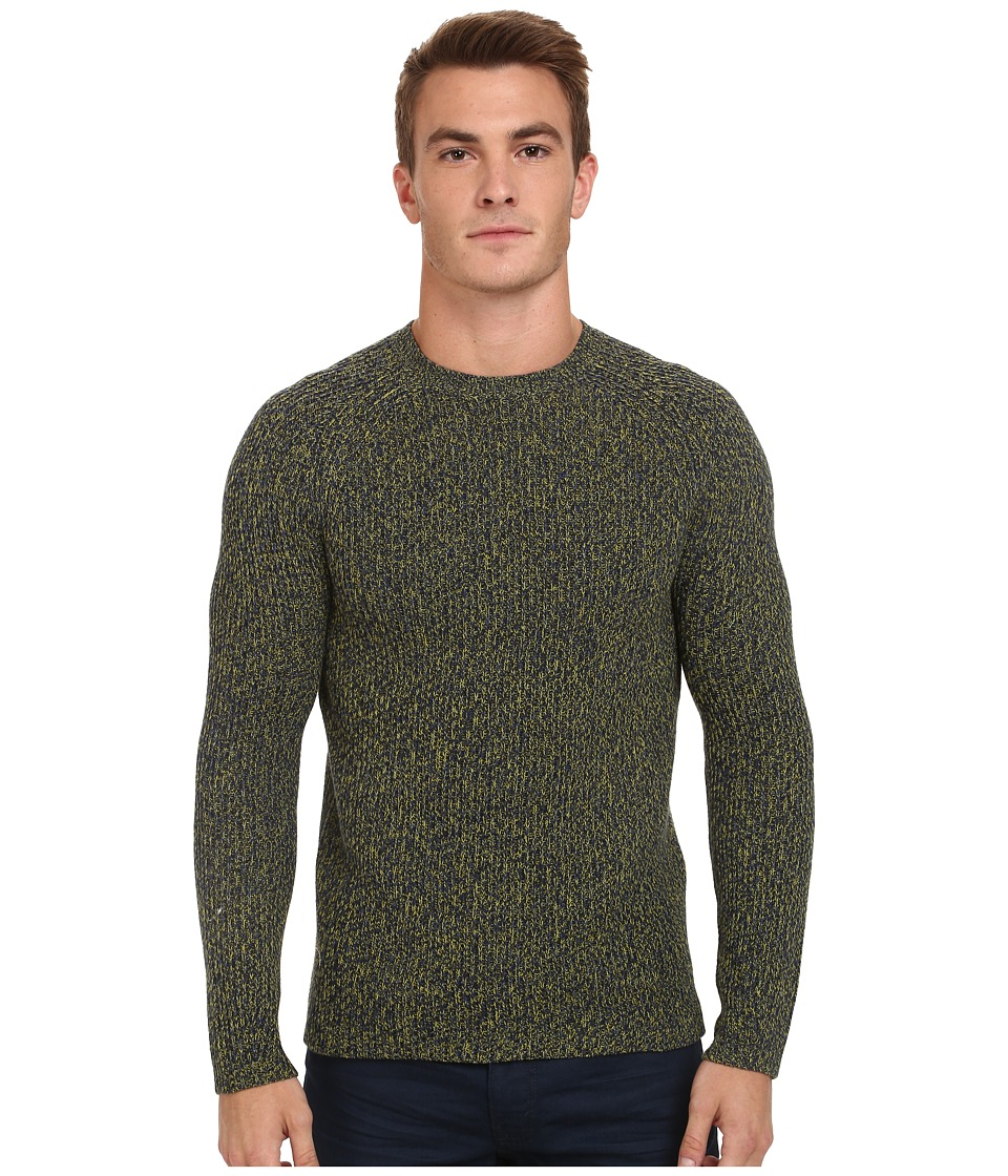 French Connection - Dirty Bright Knits (Techno Yellow/Blue Depths) Men's Sweater