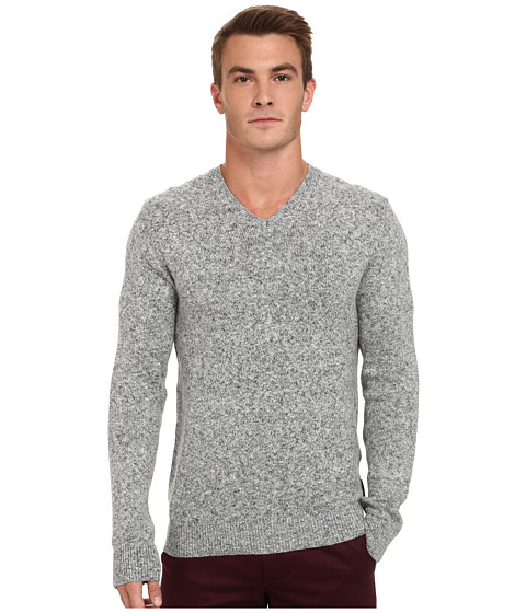 French Connection - Winter Alfa Knits (Marine Blue) Men's Sweater