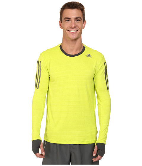 adidas - Supernova Long Sleeve Tee (Solar Yellow/Dark Grey) Men's Workout