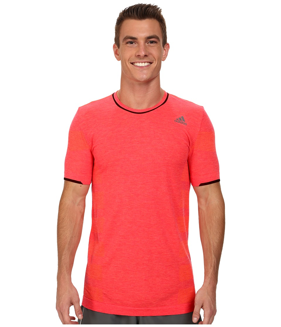 adidas - adistar Primeknit Wool Tee (Solar Red) Men's Workout