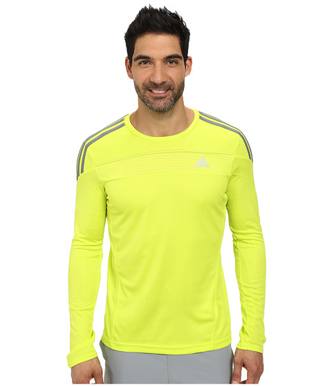 adidas - Response Long Sleeve Top (Solar Yellow) Men's Workout