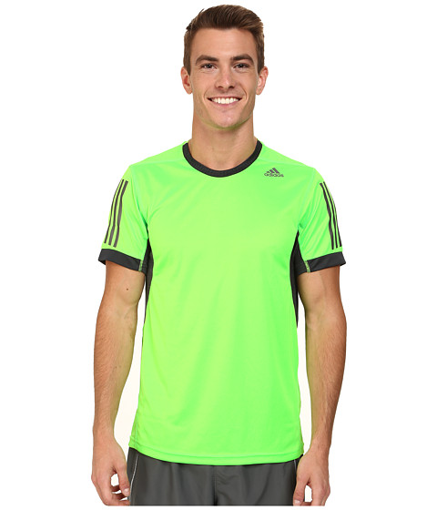adidas - Supernova Tee (Solar Green/Night Grey) Men's Workout