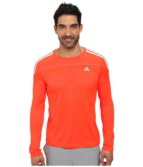 adidas - Response Long Sleeve Top (Solar Red) Men's Workout