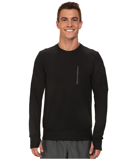 adidas - City Energy Crew Sweatshirt (Black) Men's Workout