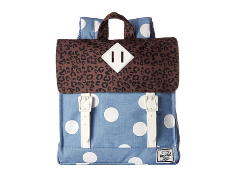 Herschel Supply Co. - Survey Kids (Chambray/White Polka Dot) Backpack Bags