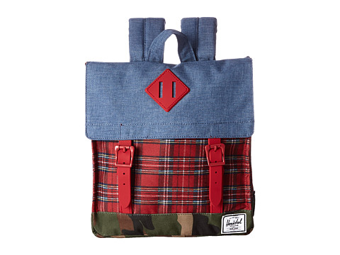 Herschel Supply Co. - Survey Kids (Crosshatch Navy) Backpack Bags