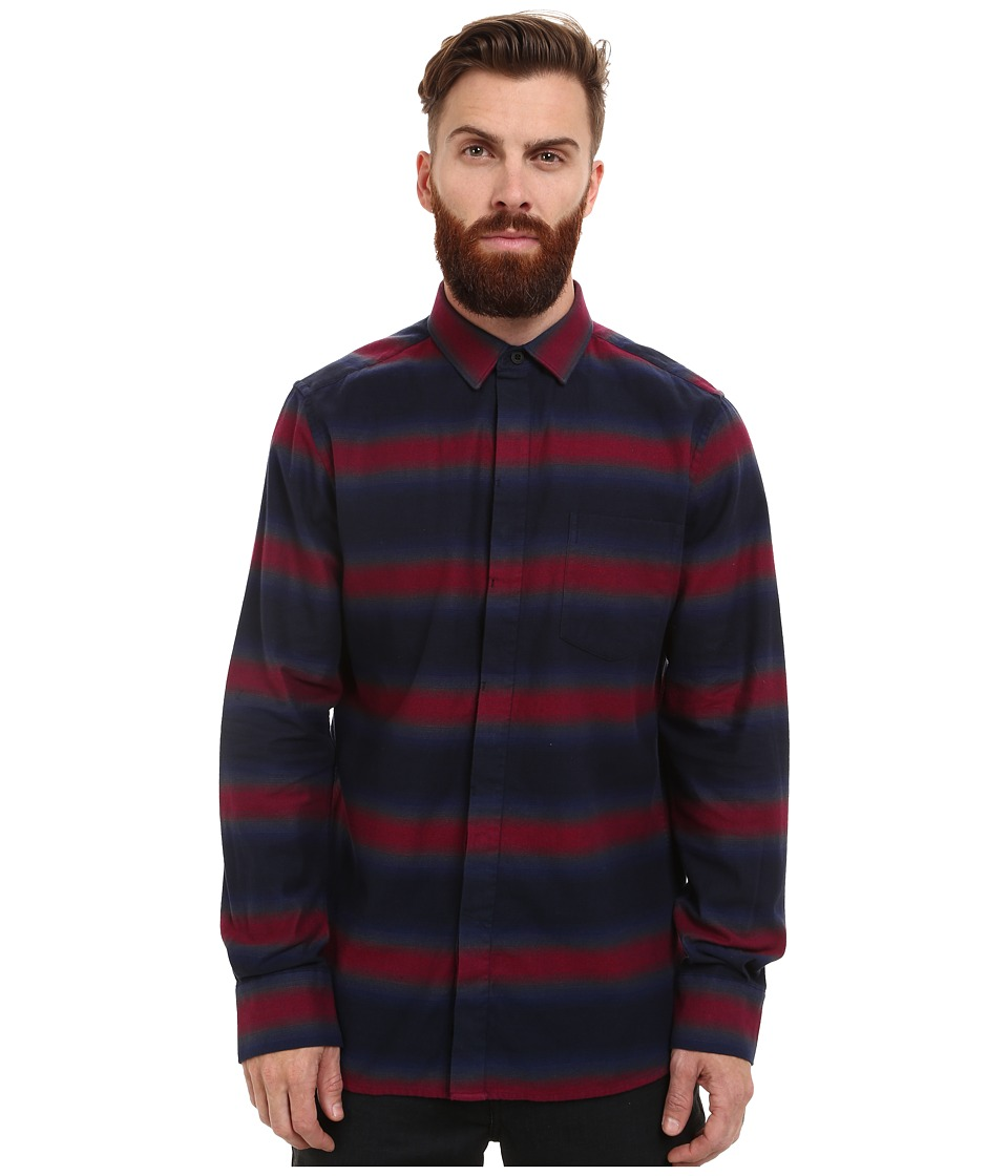 French Connection - Bailey Ombre Stripe (Rhododendron/Marine Blue) Men