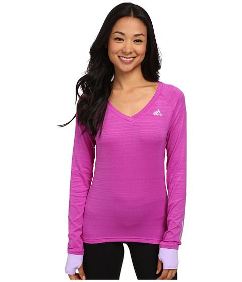 adidas - Supernova Long Sleeve Tee (Flash Pink/Glow Purple) Women
