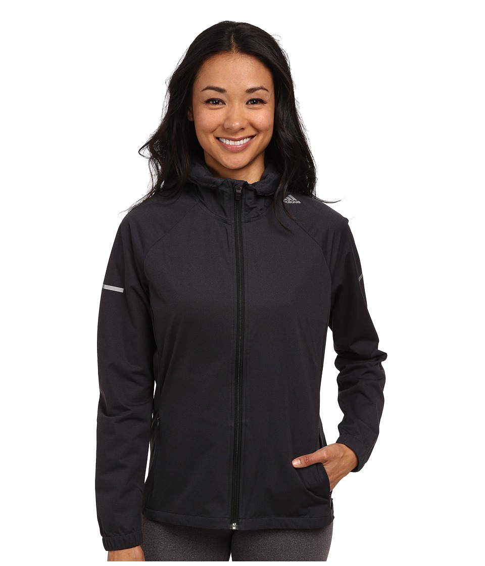 adidas - Sequentials Slim Jacket (Black) Women's Workout