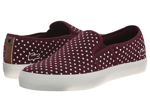 Lacoste - Gazon W3 (Burgundy) Women's Slip on Shoes