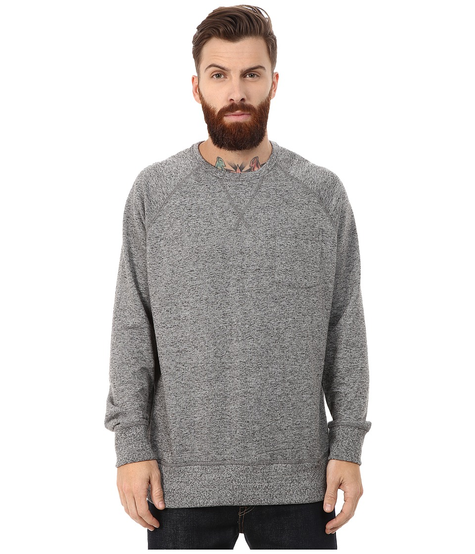 French Connection - Big Sur Pocket Crew (Charcoal Melange) Men's Sweatshirt