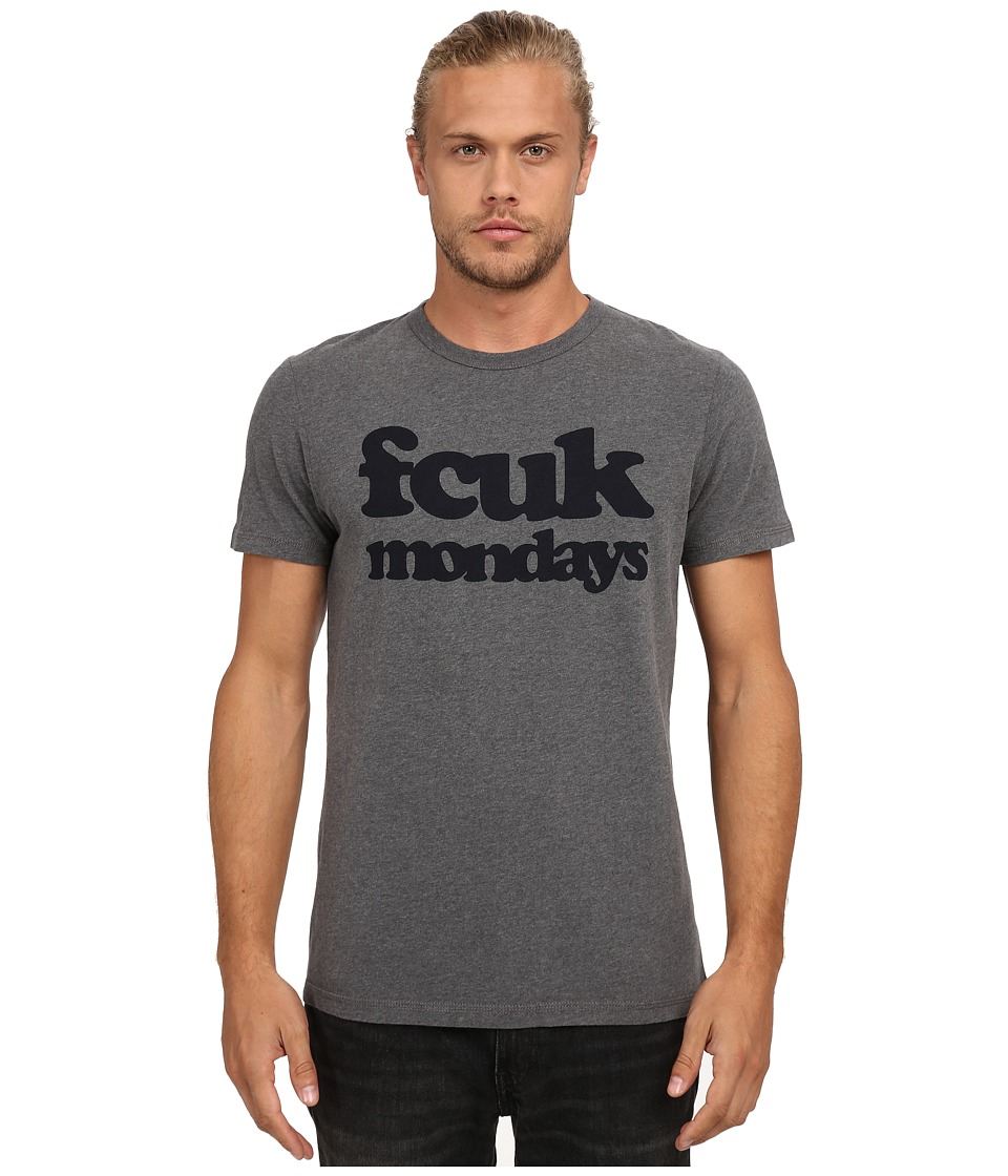French Connection - Fcuk Mondays (Charcoal Melange) Men's Clothing