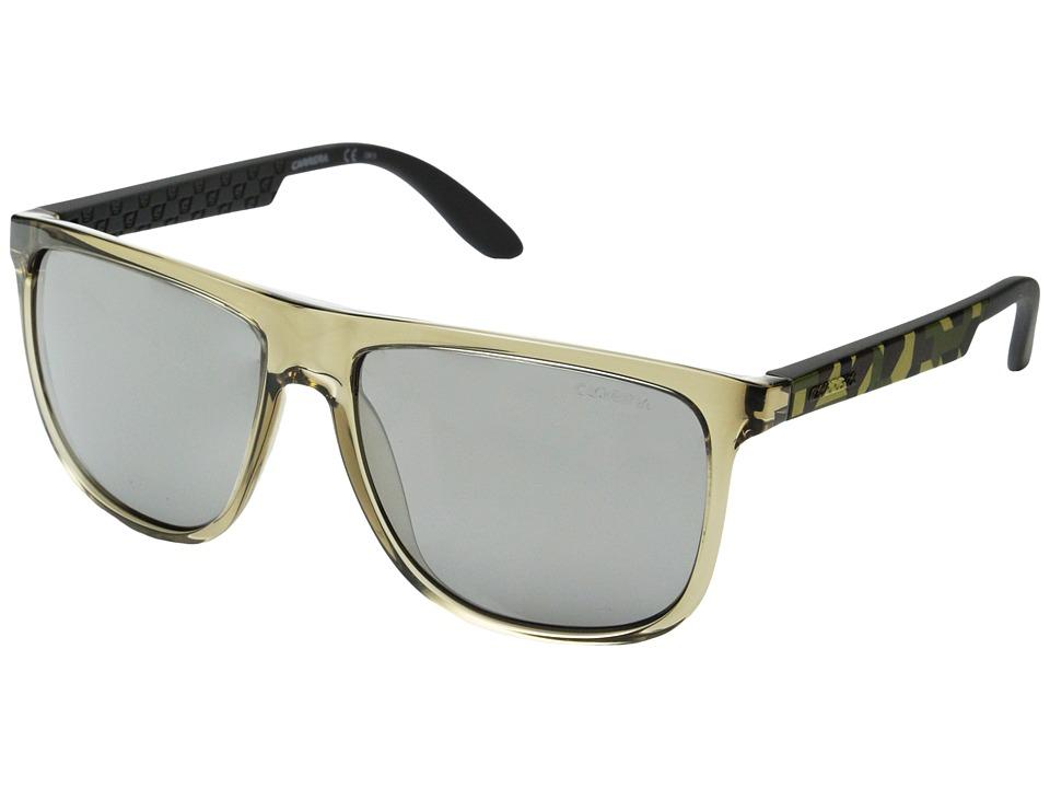 Carrera - Carrera 5003/S (Gray Camel Sand/Black Mirror) Plastic Frame Fashion Sunglasses