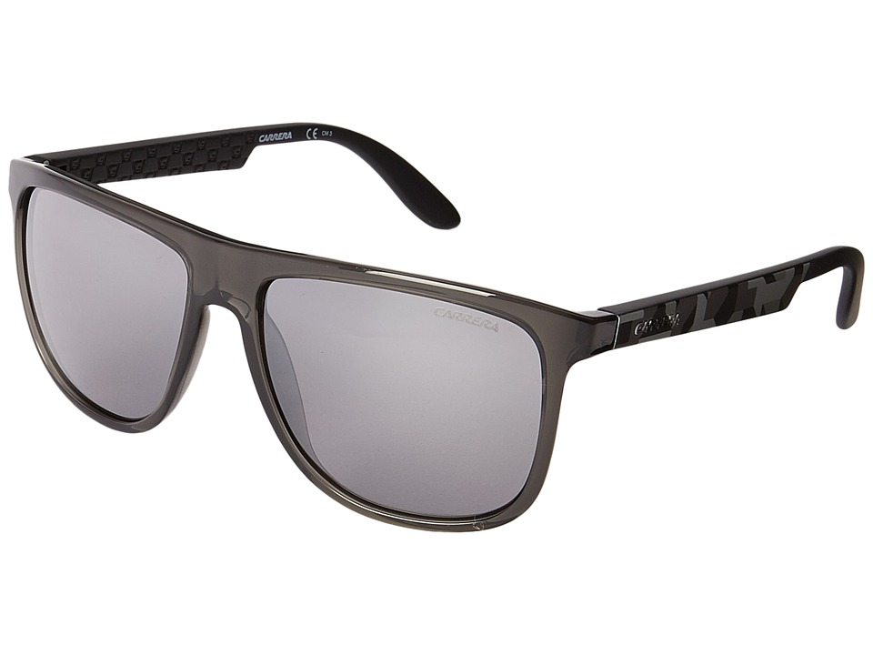 Carrera - Carrera 5003/S (Gray Camel Gray/Black Mirror) Plastic Frame Fashion Sunglasses
