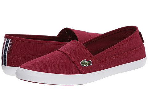 Lacoste - Marice TRC (Dark Red/Dark Red) Women's Slip on Shoes