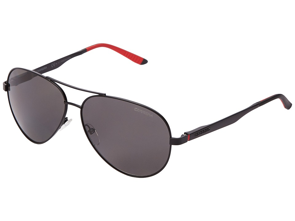 Carrera - Carrera 8010/S (Matte Black/Gray Polarized) Fashion Sunglasses