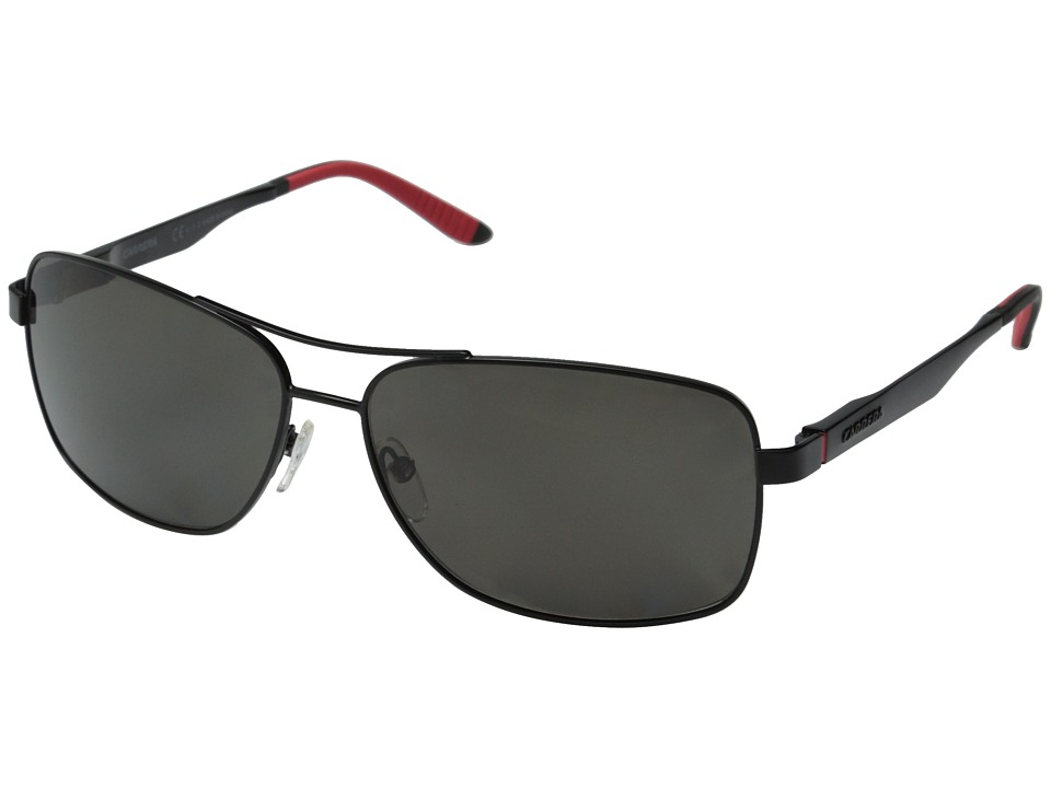 Carrera - Carrera 8014/S (Matte Black/Gray Polarized) Fashion Sunglasses