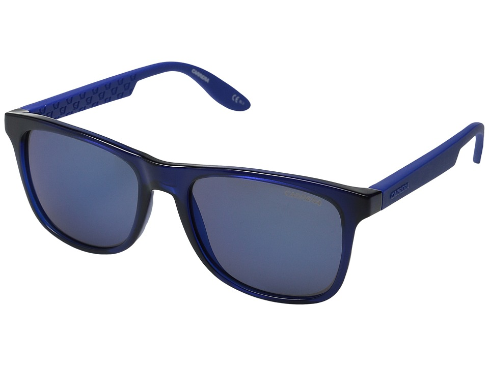 Carrera - Carrera 5025/S (Blue/Blue Sky Mirror) Fashion Sunglasses