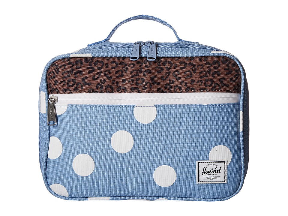 Herschel Supply Co. - Pop Quiz Lunch (Chambray/White Polka Dot) Handbags