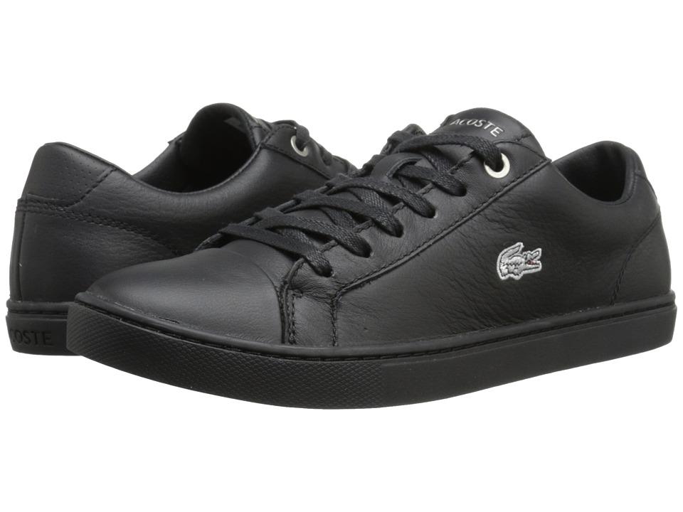Lacoste - Showcourt Rqt (Black/Black) Women's Lace up casual Shoes