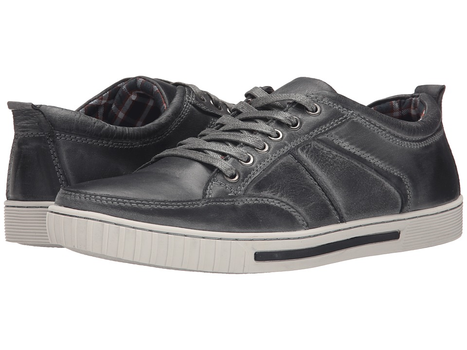Steve Madden - Puncher (Grey Leather) Men's Lace up casual Shoes