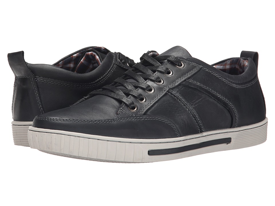 Steve Madden - Puncher (Black Leather) Men's Lace up casual Shoes