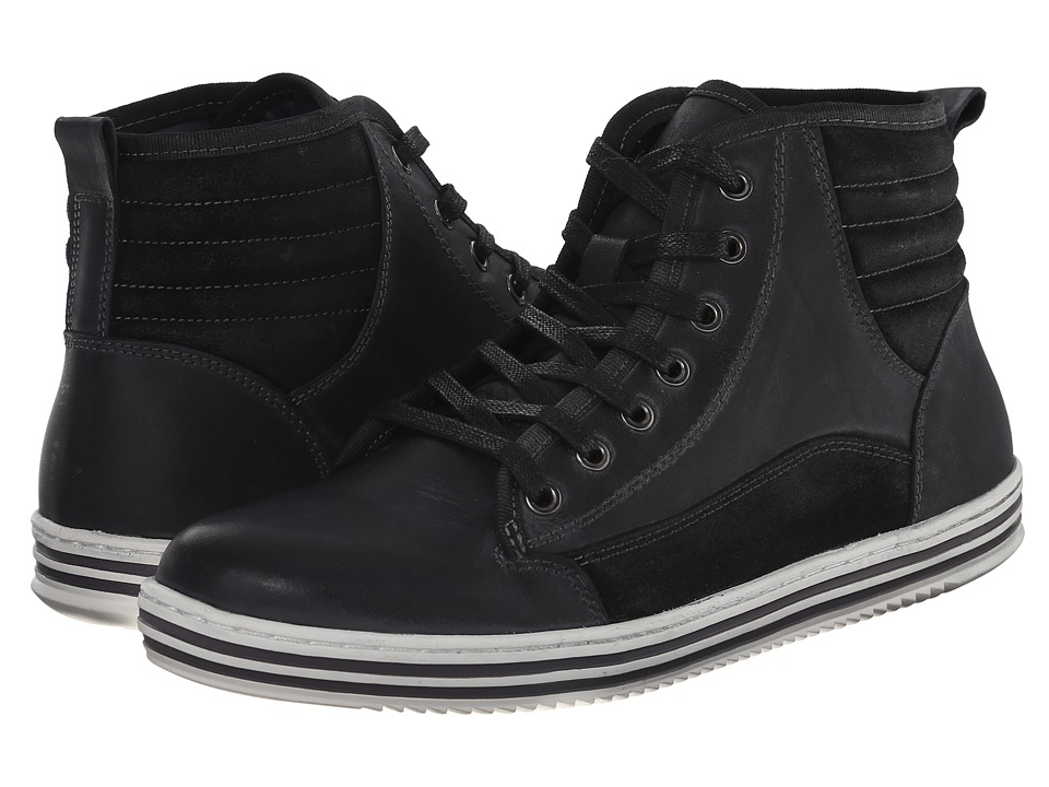 Steve Madden - Reasonur (Black Leather) Men