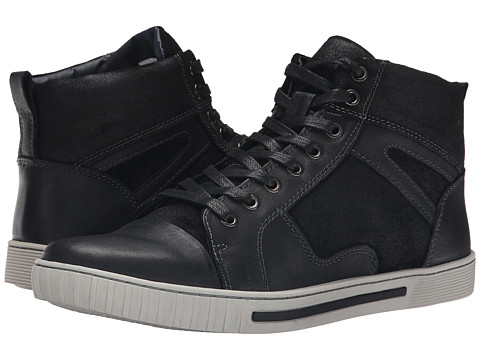 Steve Madden - Planet (Black Leather) Men's Lace-up Boots
